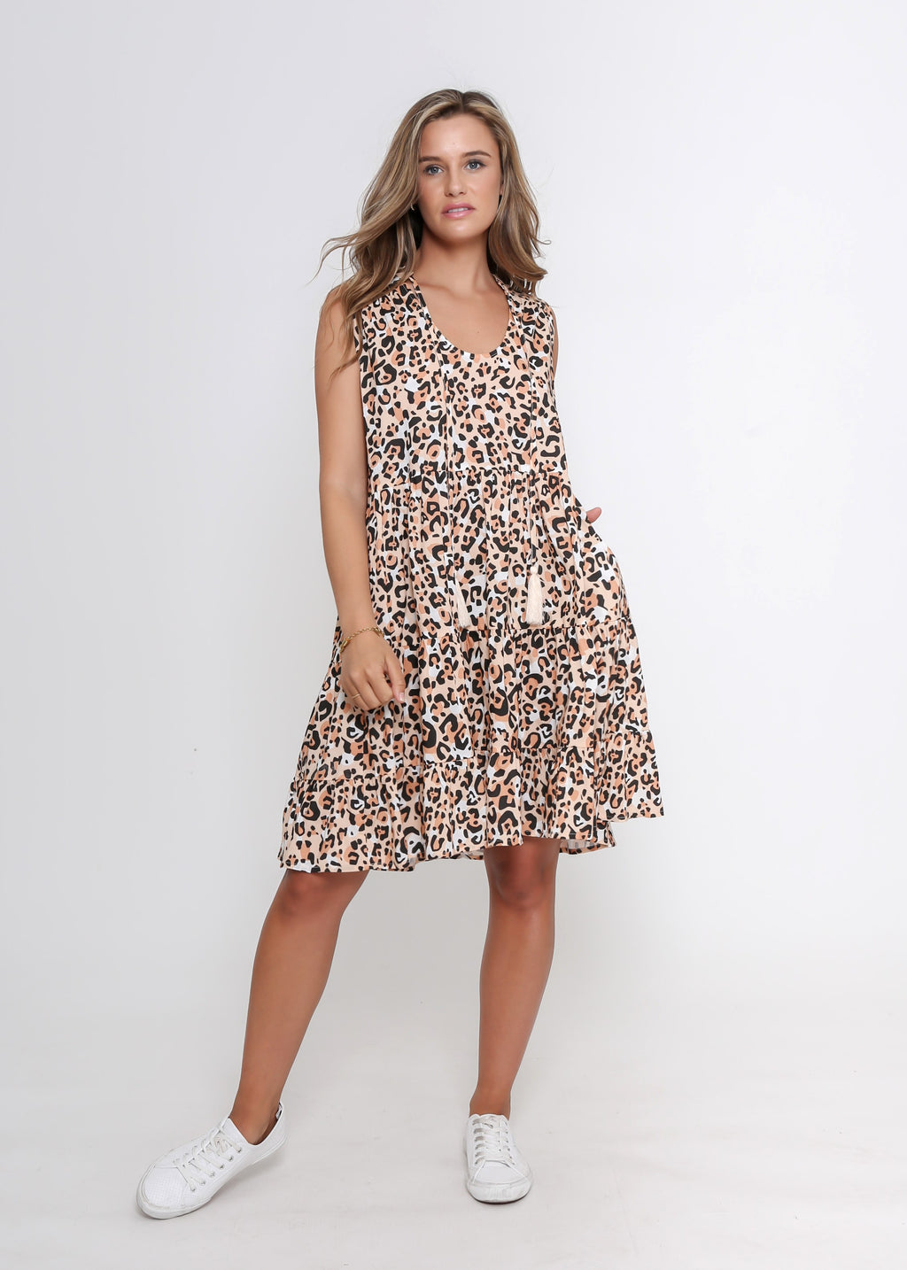 NEW - HAZEL DRESS - SUMMER LEOPARD