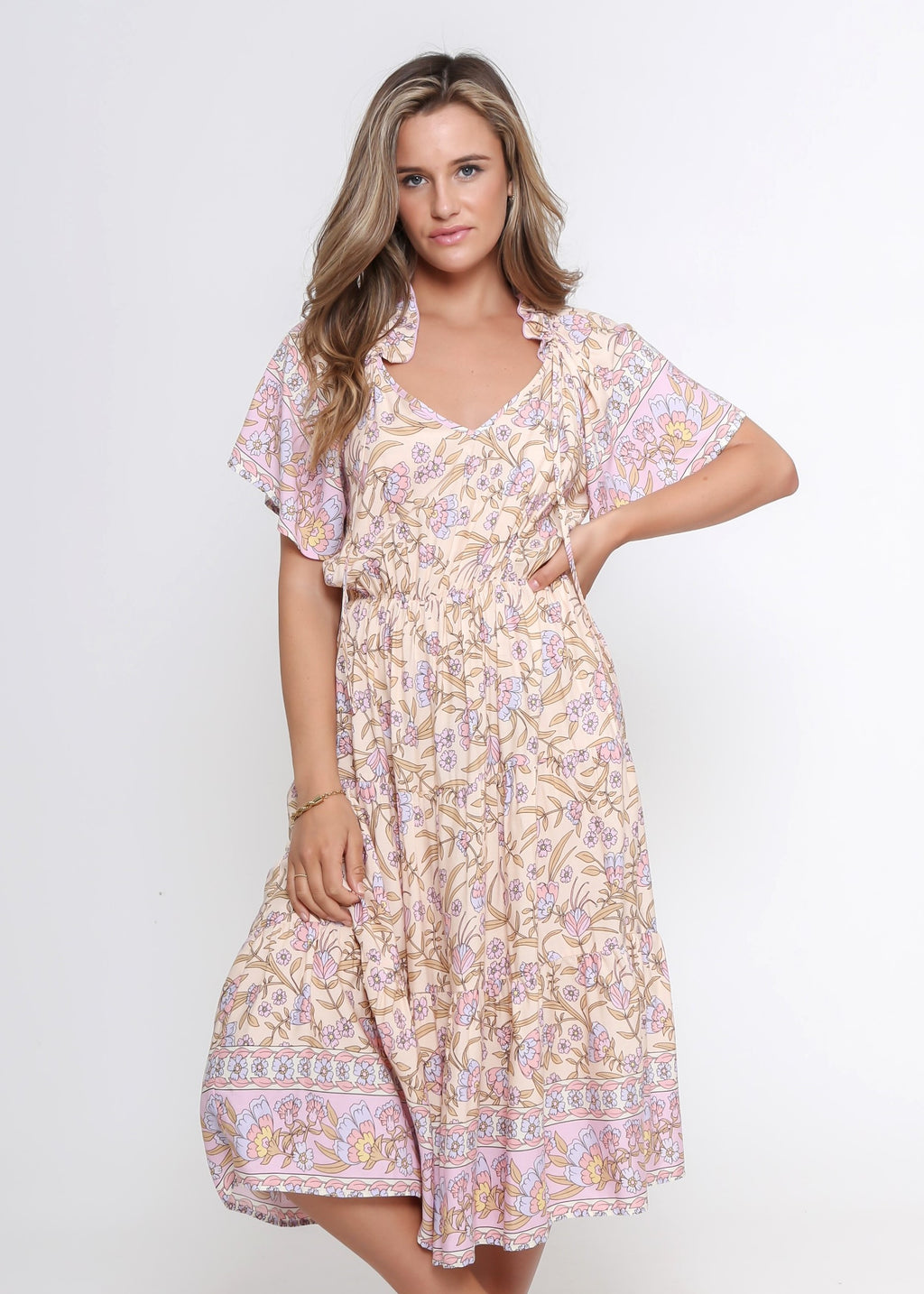 NEW - KARINA DRESS - BOARDER PRINT