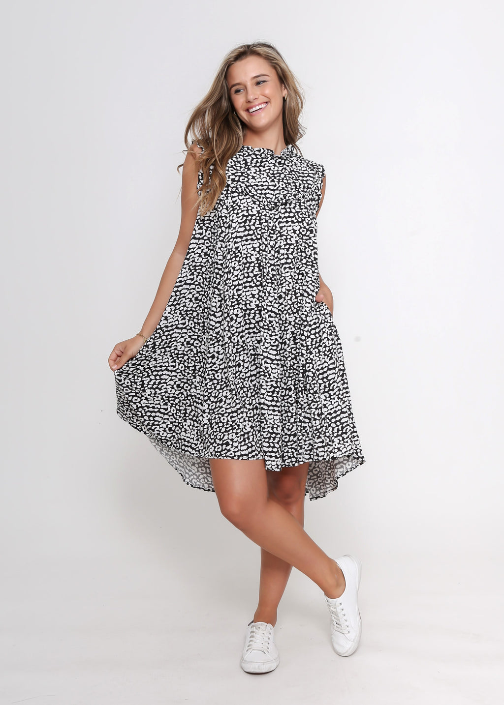 NEW - LAYLA DRESS - BLACK LEOPARD