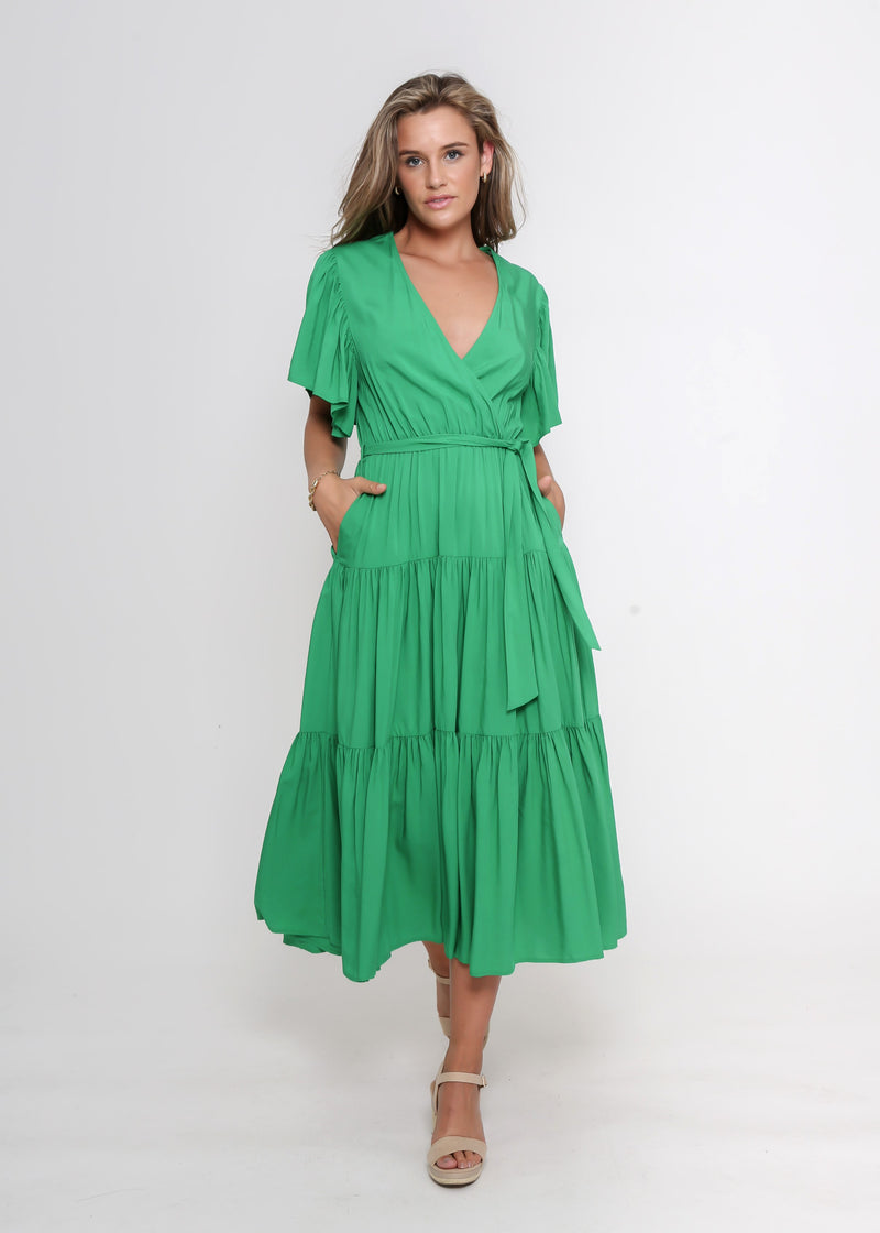 NEW - DAYNA DRESS - GREEN