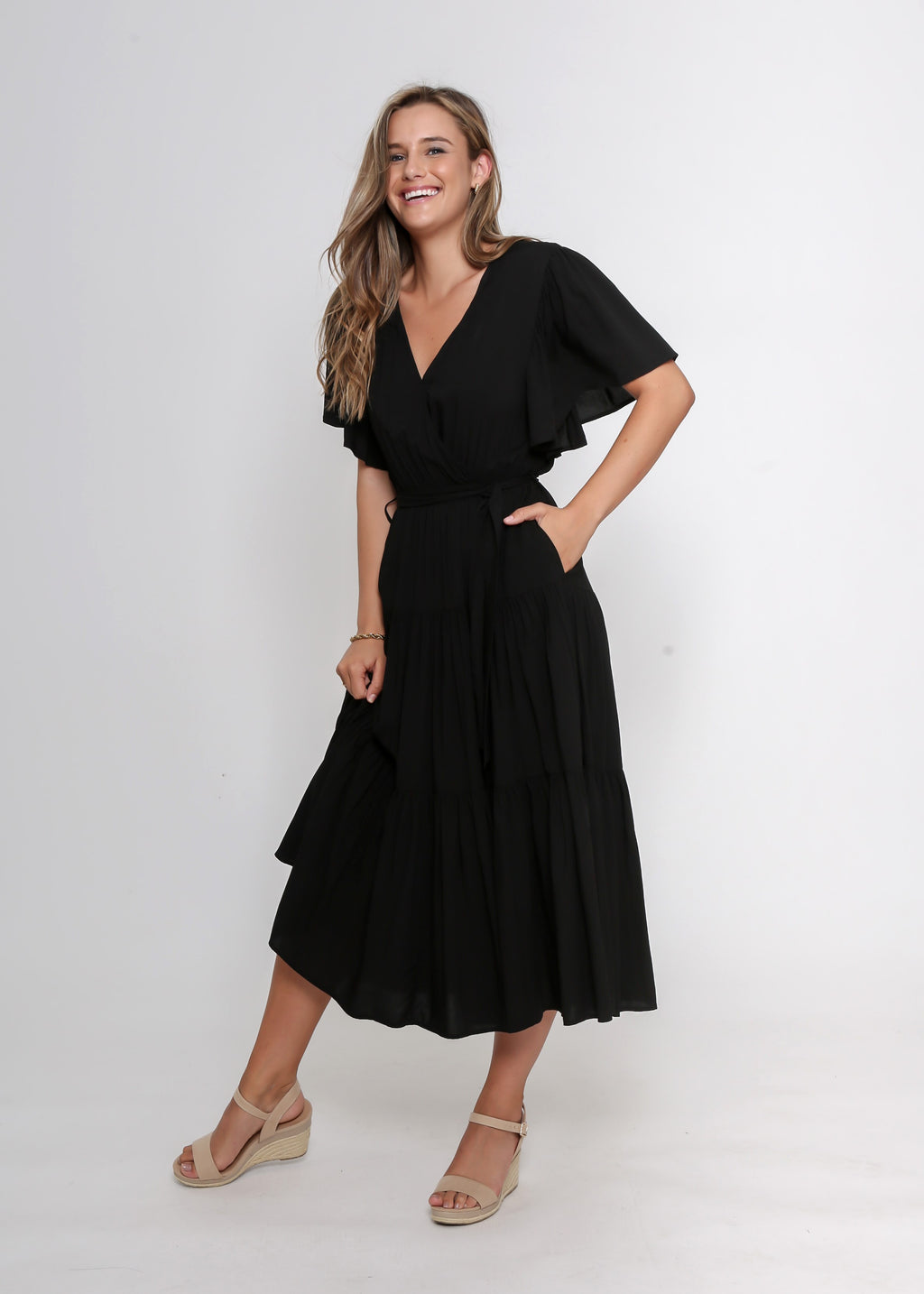 DAYNA DRESS - BLACK - LAST STOCK