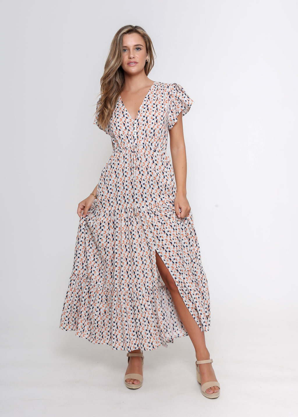 SUNNY MAXI DRESS - NAVY PRINT - LAST STOCK