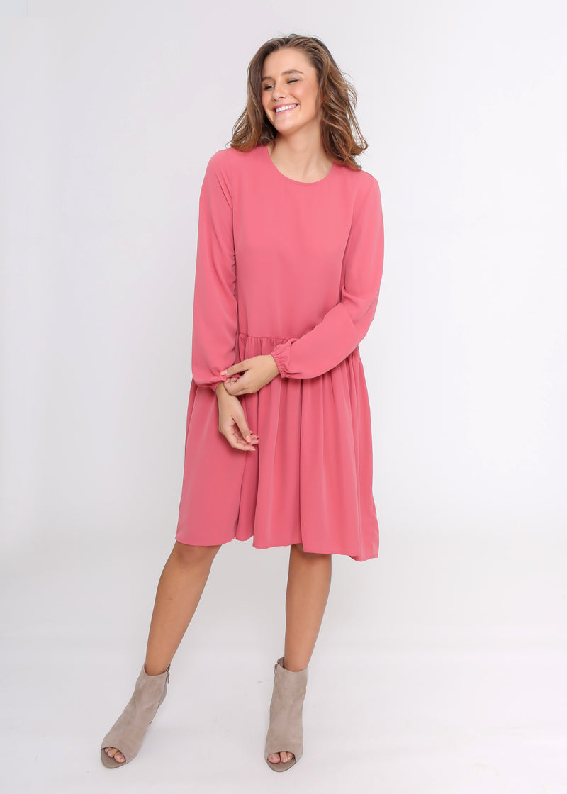 MILAN DRESS - DUSTY ROSE