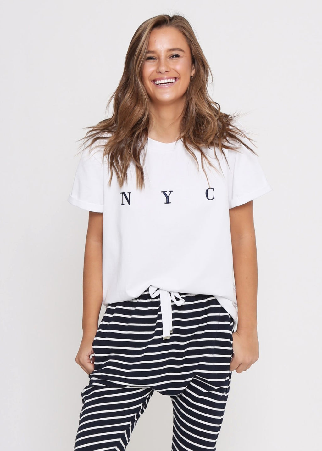 NYC BOX TEE - WHITE