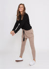 KIERA DROP CROTCH JOGGER - MOCHA
