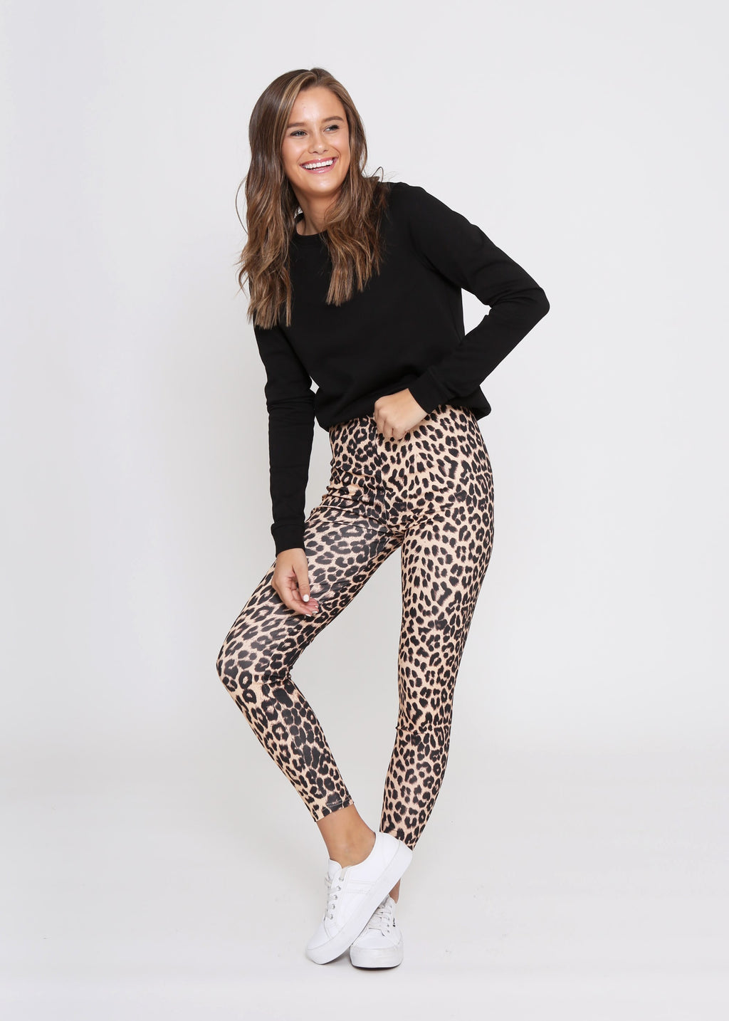 HUTTON LEGGINGS - CAMEL CHEETAH