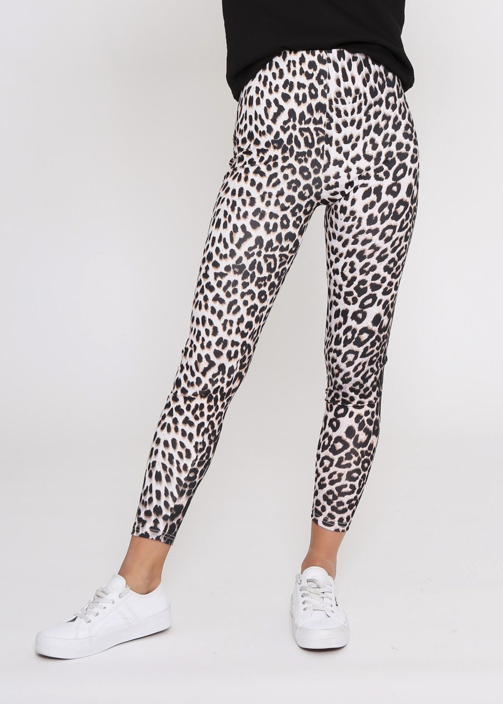 HUTTON LEGGINGS - GREY CHEETAH