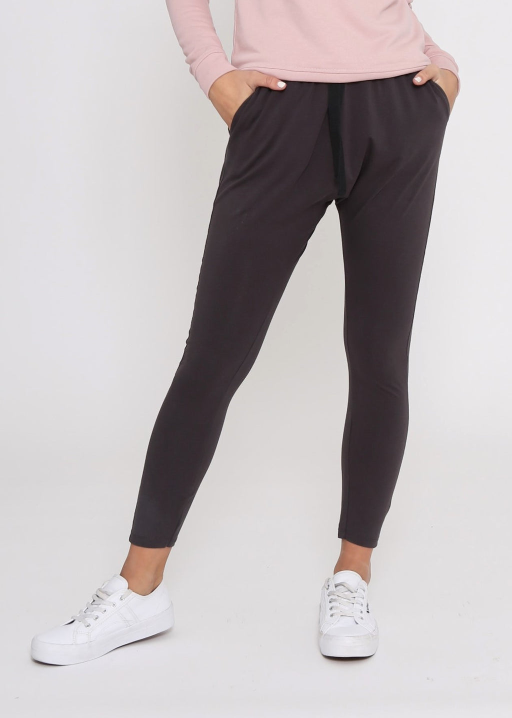 KIERA DROP CROTCH JOGGER - DARK GREY