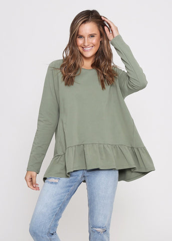 ELIANNA TOP - GREEN FLORAL