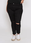 MEGAN CURVES SKINNY JEAN - BLACK WASH