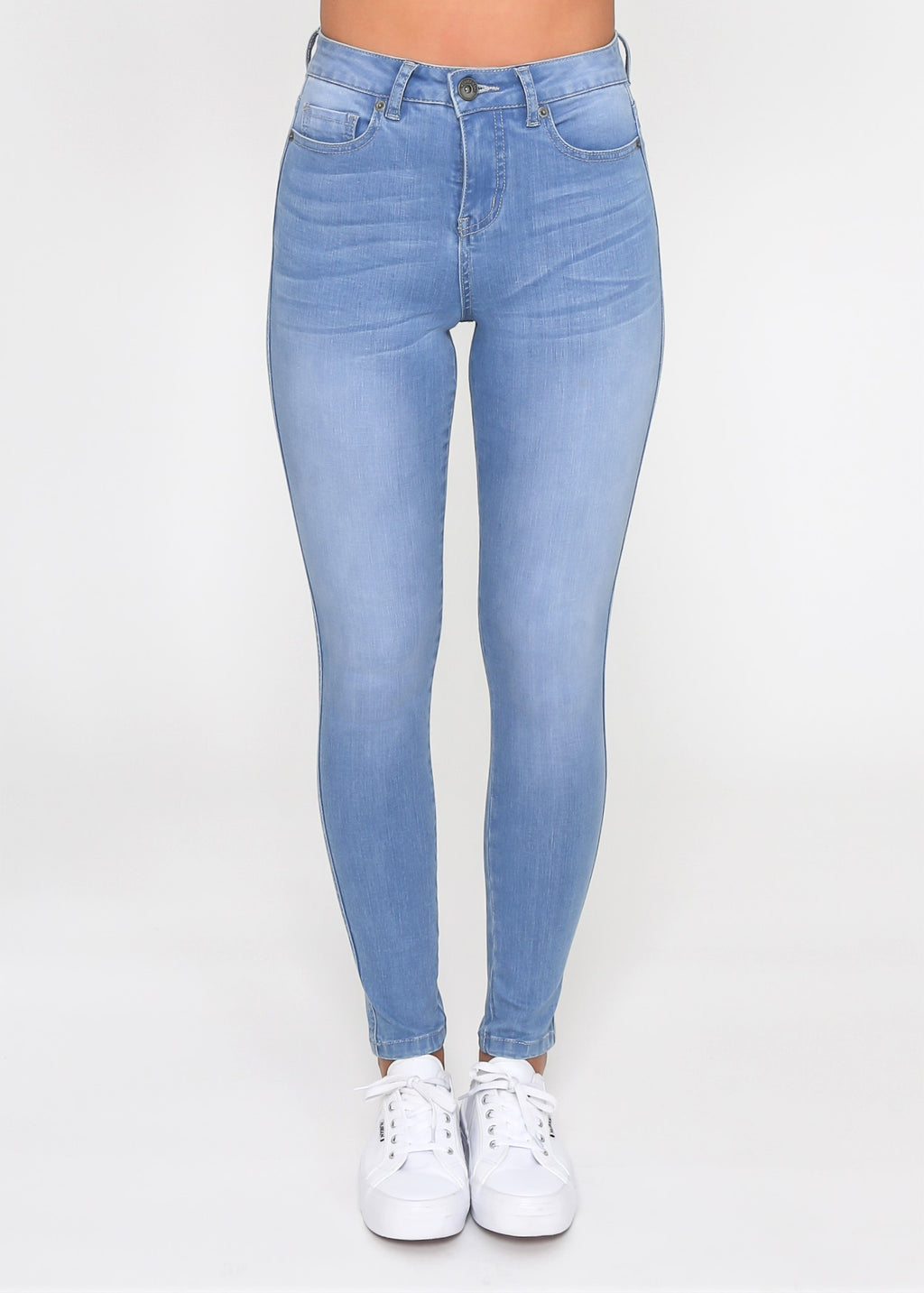 KHLOE SKINNY JEAN - LIGHT BLUE WASH