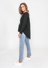 LARA LONG-SLEEVE TEE - BLACK