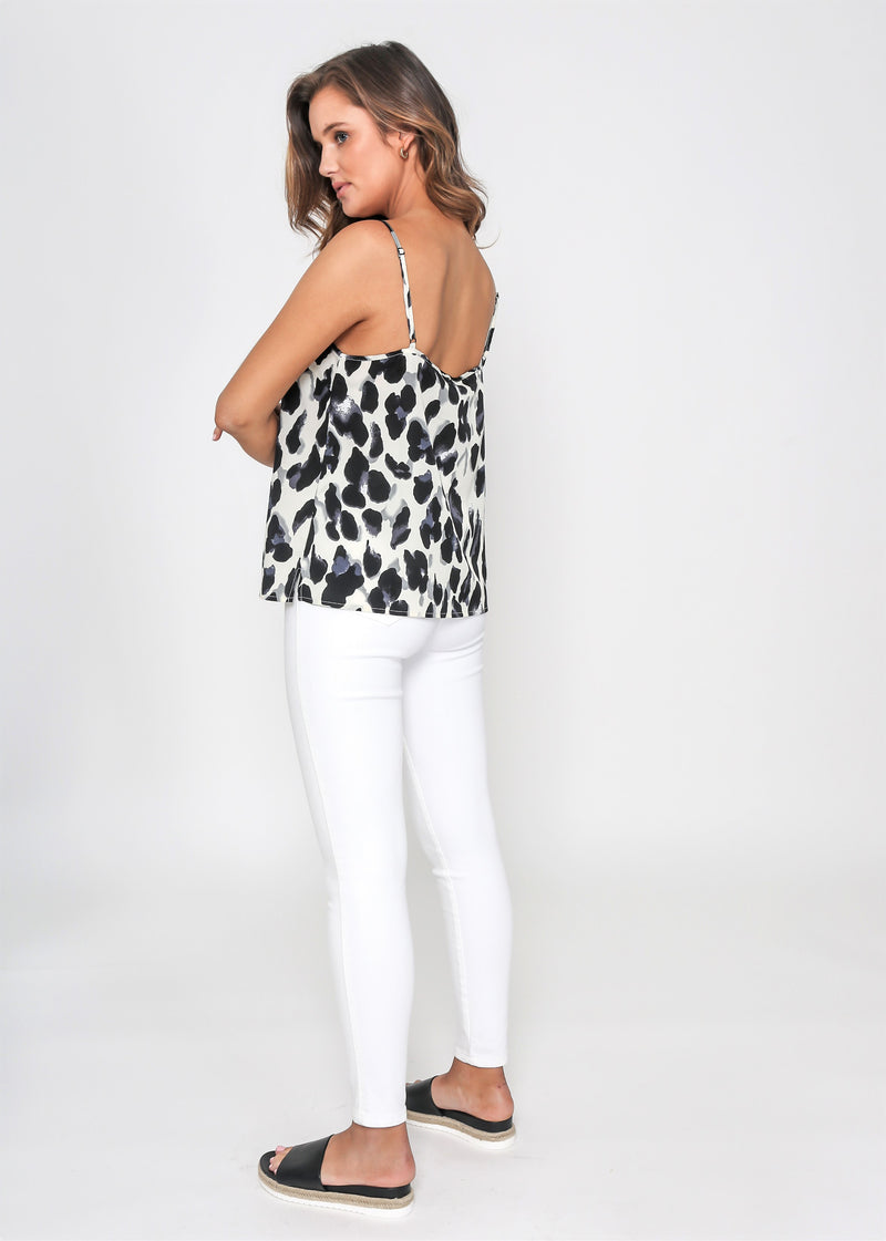 ALICE LACE CAMI - MIXED ANIMAL PRINT