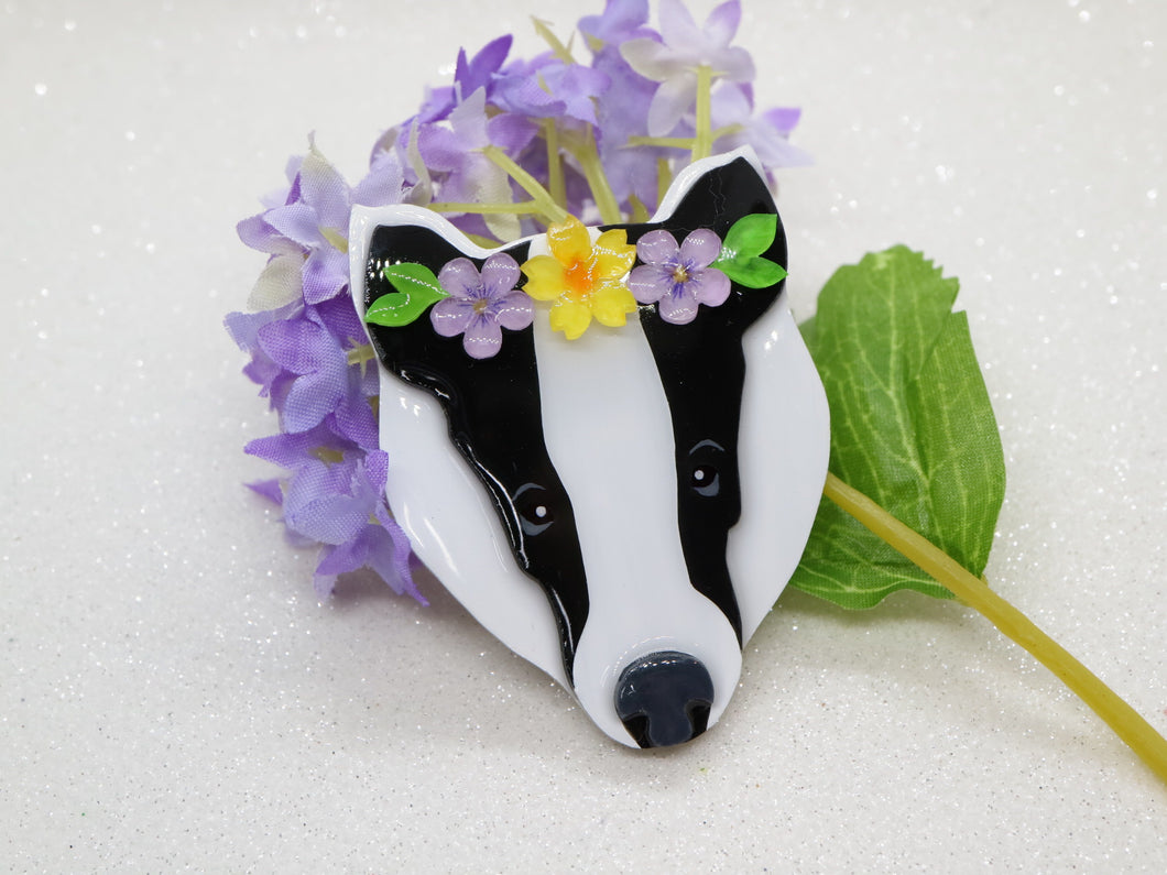 Vera Chan artist collaboration (Pre Order only) - Bronte the Badger brooch