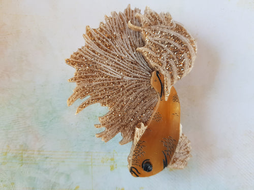 Kimchi and Coconut - Gold Betta Fish brooch (Exclusive collaboration)