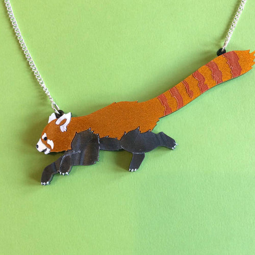 Kimchi and Coconut - Red Panda Necklace