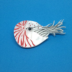 Kimchi and Coconut - Nautilus Brooch