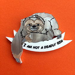 Kimchi and Coconut - Sloth Brooch