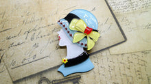 Vera Chan - Lady Portrait Brooch (Blue)