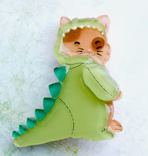 Vera Chan - Dino Cat acrylic brooch (2 WEEK WAIT MADE TO ORDER)