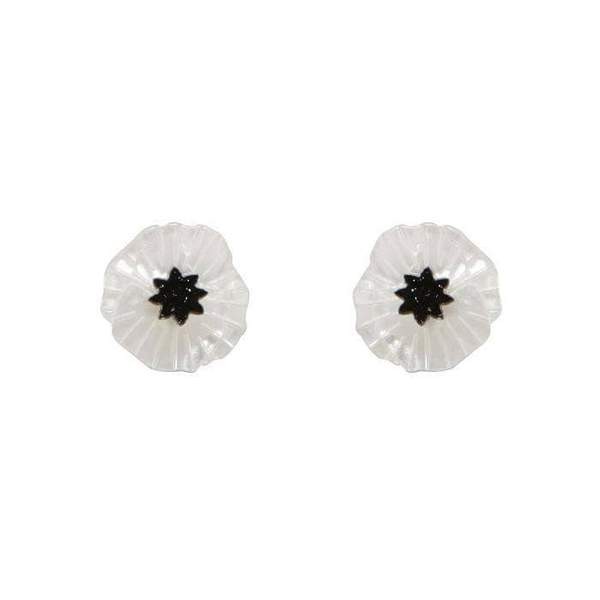 Erstwilder - POPPY FIELD EARRINGS (White)