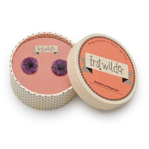Erstwilder - POPPY FIELD EARRINGS (Purple)