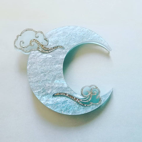 Kimchi and Coconut - Blue Moon Brooch