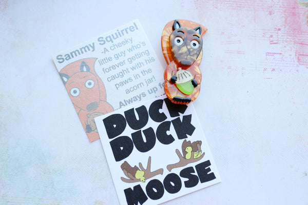 Duck Duck Moose - Sammy Squirrel Brooch