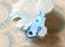 Kimchi and Coconut - Betta Fish Brooch (Blue glitter)