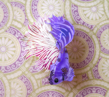 Kimchi and Coconut - Purple iridescent Betta Fish brooch (Exclusive collaboration)