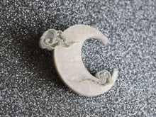 Kimchi and Coconut - Silver Moon Brooch