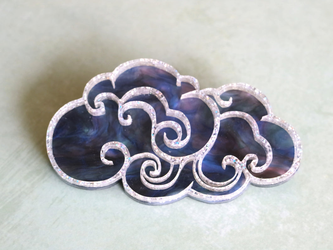 Kimchi and Coconut -  Dark cloud Brooch