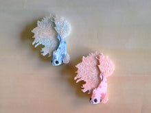 Kimchi and Coconut - Betta Fish Brooch (Pink glitter)