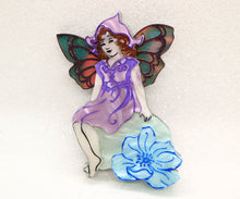 Ottopiary - Fairy on flower brooch