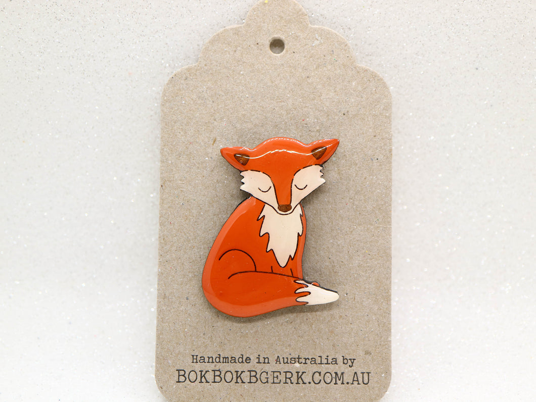 Bok Bok B'Gerk - Fox brooch