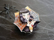 LaliBlue - Spider Girl Brooch