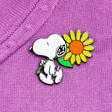 Erstwilder x The Peanuts - Snoopy's Sunflower Enamel Pin