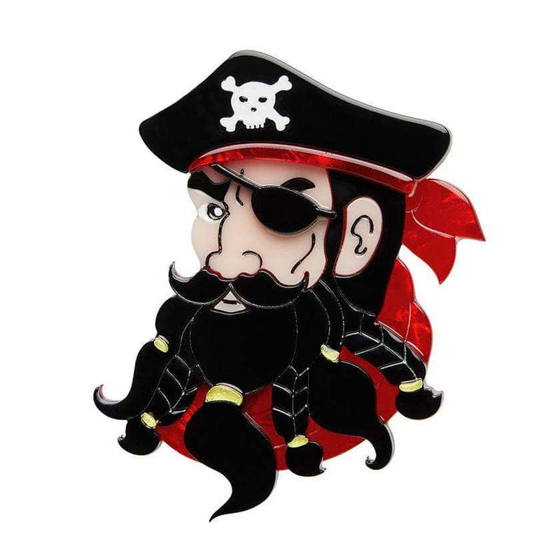 From the private collection - Erstwilder EDWARD THE EXCEPTIONAL PIRATE BROOCH