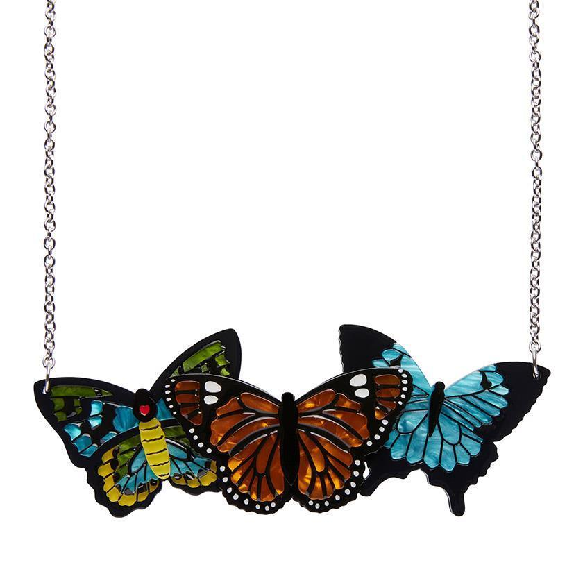 From the private collection - Erstwilder - Kaleidoscope of Colour Butterfly Necklace
