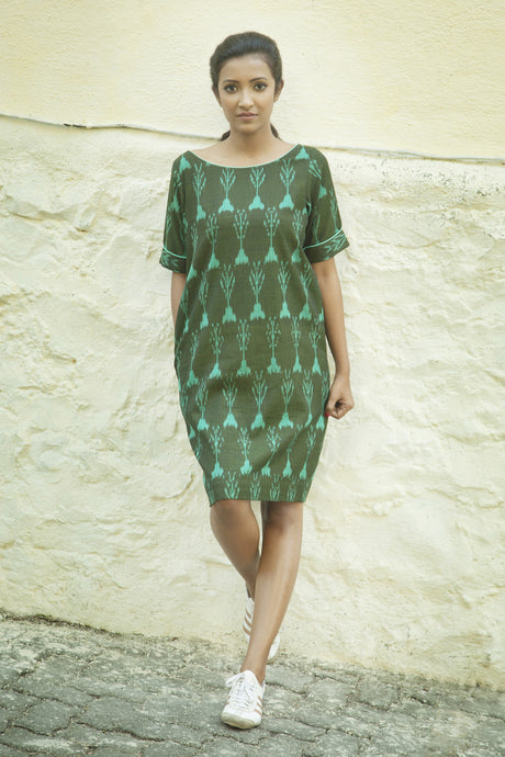Green Ikat Dress