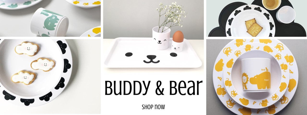 Buddy and Bear Tableware - Melamine