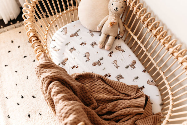 Snuggle Hunny - Hazelnut Diamond Knit Baby Blanket
