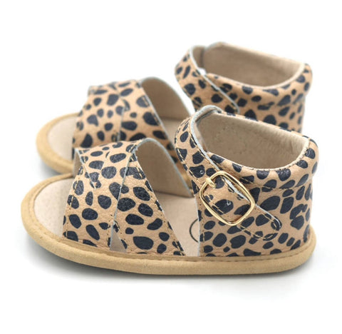 Little Mazoe's - Madison Sandal (Leopard Print)
