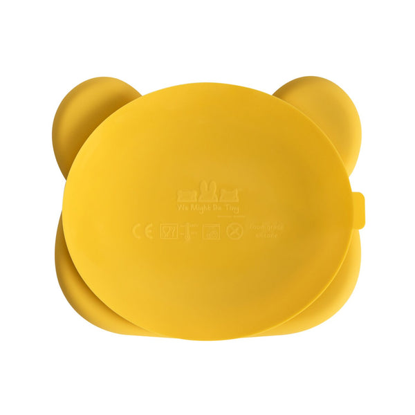 We Might Be Tiny - Stickie Plate Bear (Yellow) - My Sweet Fox
