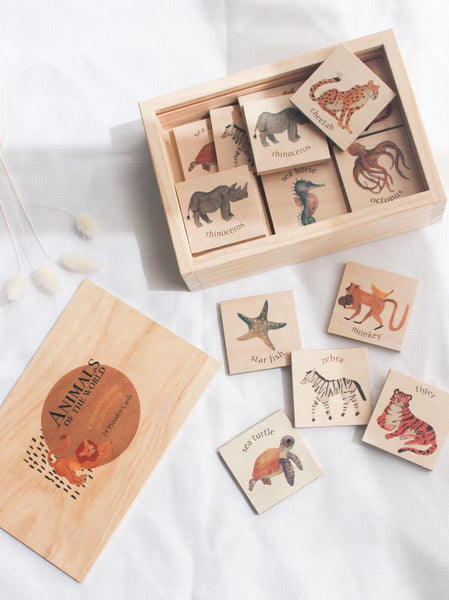 Rumi & Fae - Animals Memory Card Game