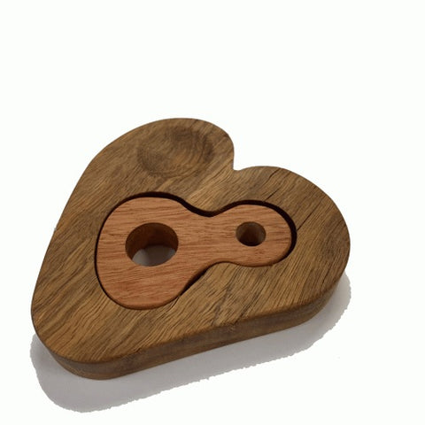 In-Wood Separation Anxiety Heart