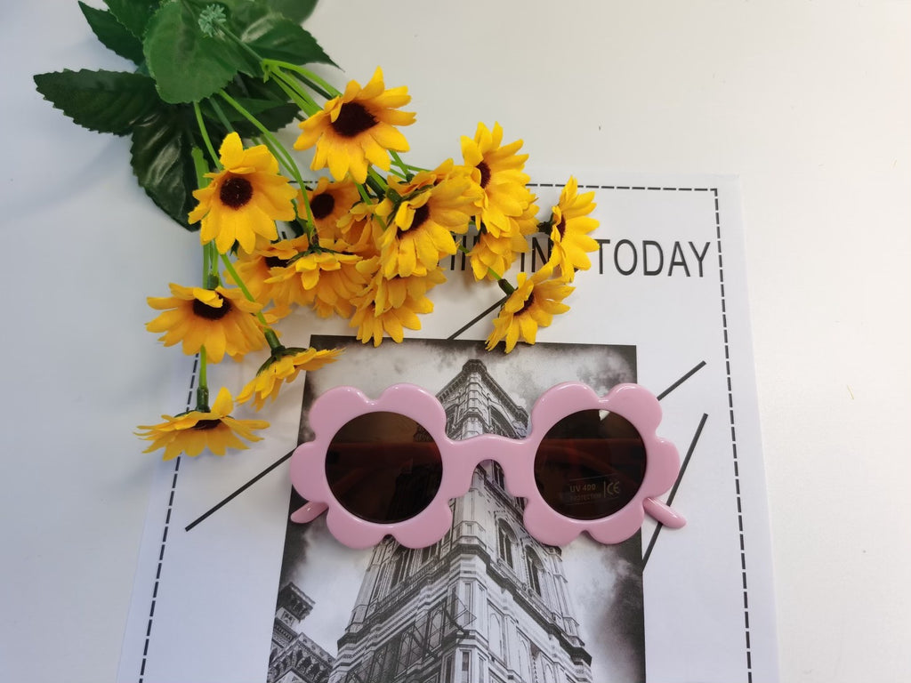 Little Mazoe's Flower Sunglasses - Pink