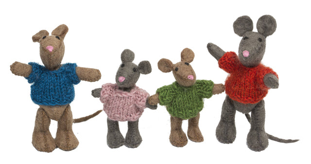 Papoose - Mouse Family (4pc)