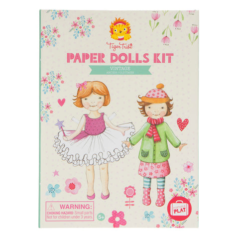 Tiger Tribe - Paper Dolls Kit: Vintage