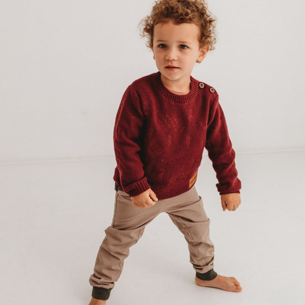 Wild Island Apparel - The Windswept Pullover (Burgundy)